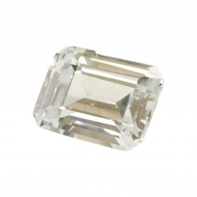 WHITE CUBIC ZIRCONIA EMERALD CUT