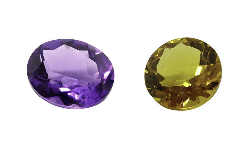 ROUND AND OVAL CUT FACETED