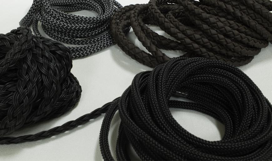 Braided rubber cord