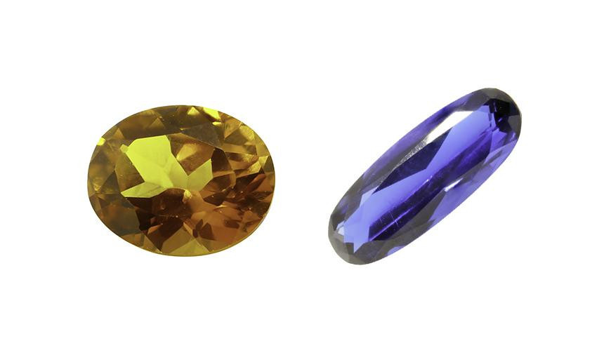FACETED OVAL CUT STONES