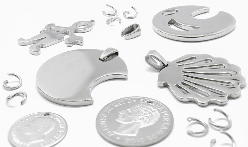 Steel rings and pendants