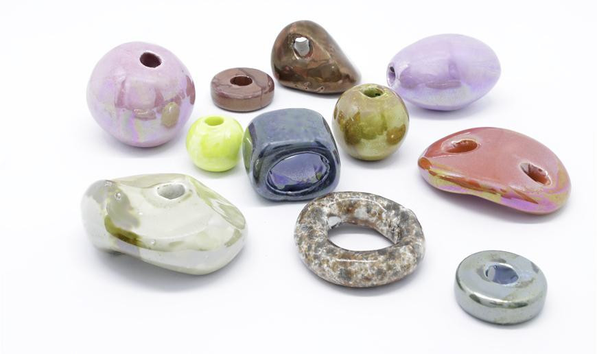Handmade ceramic beads