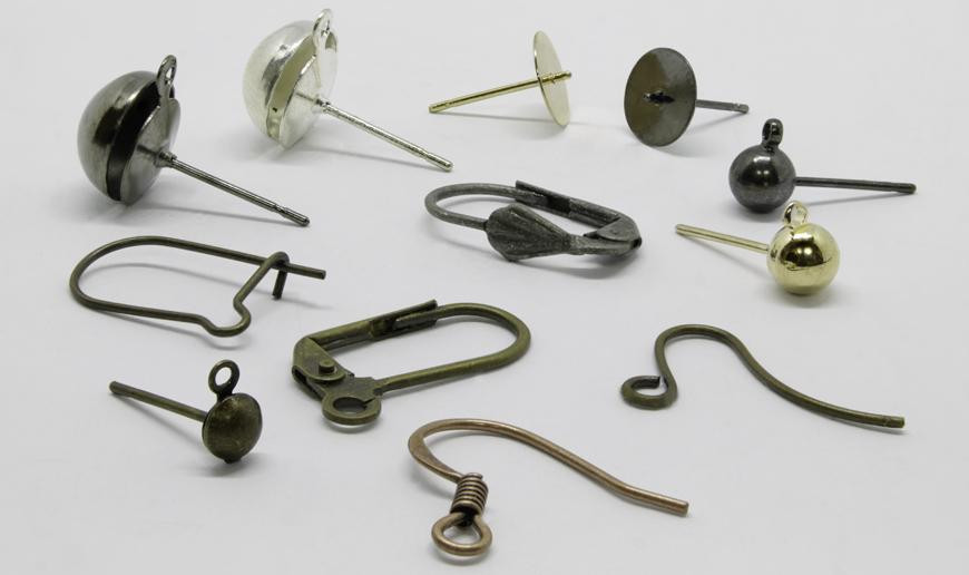 Metal earring parts