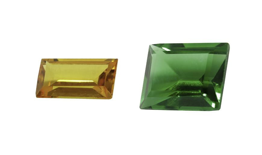 FACETED RECTANGLE CUT STONES