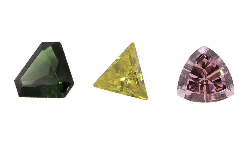 TRIANGLE AND ANTIQUE CUT STONES