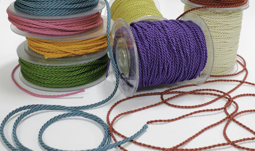 Rayon wrought braided cord
