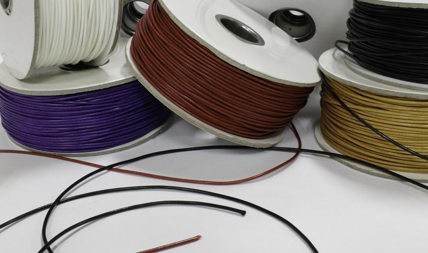 Bright waxed cord