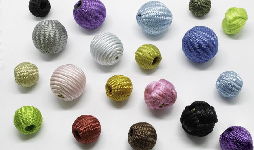 Upholstered beads