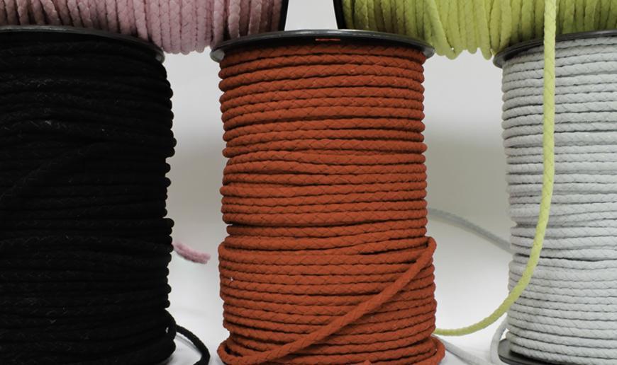 Braided round suede cord