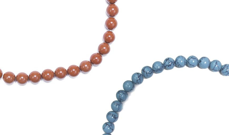 SYNTHETIC BEADS AND FANCY STRINGS