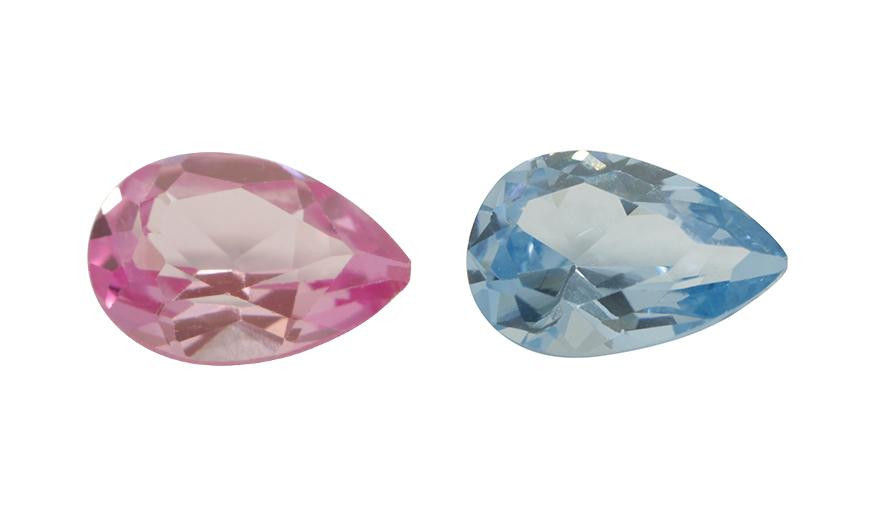 FACETED PEARSHAPE STONES