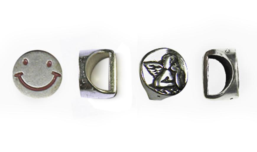 Poussoirs en métal pour cordon demi-rond