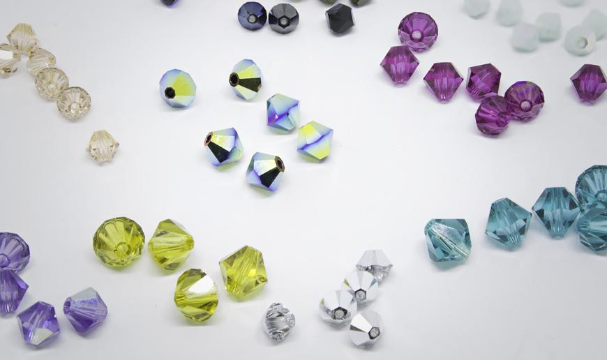 Double cone czech crystal beads