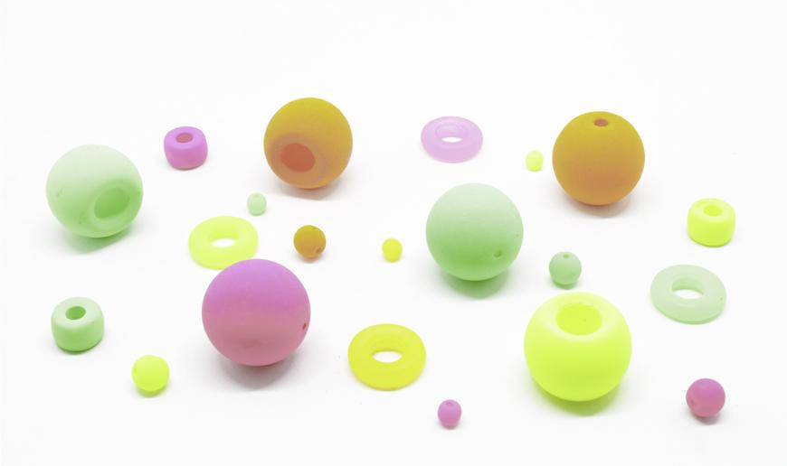 Neon glass beads