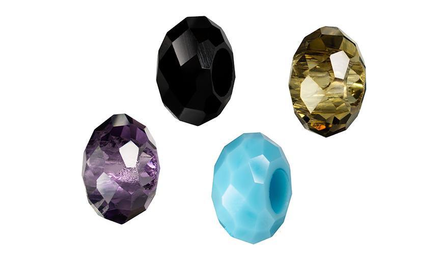 Cristales facetados taladro grueso
