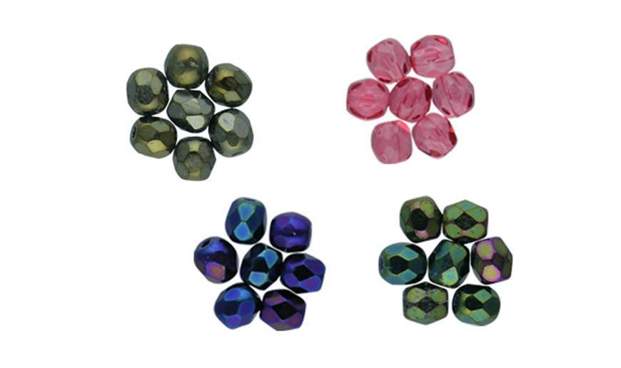 Bolas facetadas de 3- 4 y 6 mm